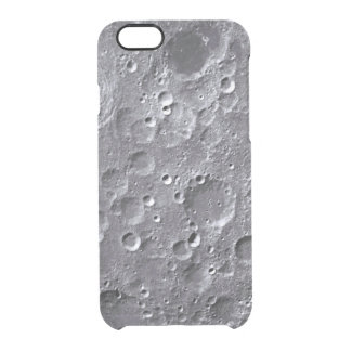 Moon surface clear iPhone 6/6S case