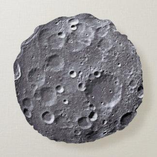 Moon surface round cushion
