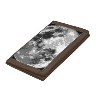Moon Surface Tri-fold Wallet