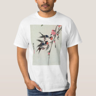Moon, Swallows and Peach Blossoms T-shirt