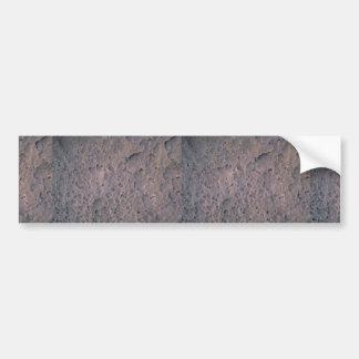 Moon texture bumper sticker