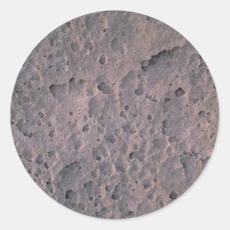 Moon texture round sticker