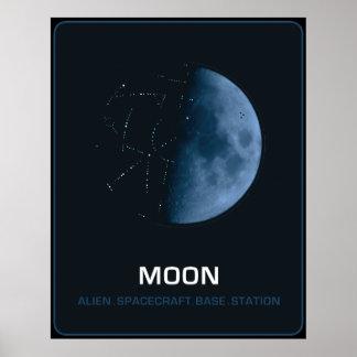 MOON The Ancient Spacecraft Alien Poster