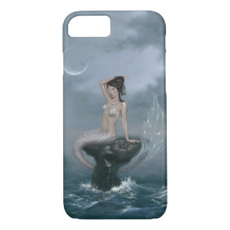 Moon Tide Stormy Seas Mermaid iPhone 8/7 Case