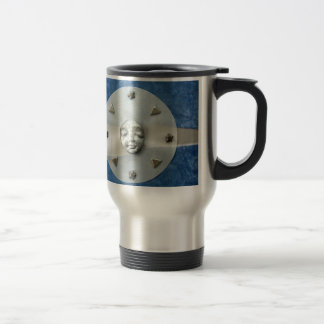 Moon Tranquility - collage Stainless Steel Travel Mug
