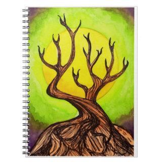 Moon & Tree Notebook