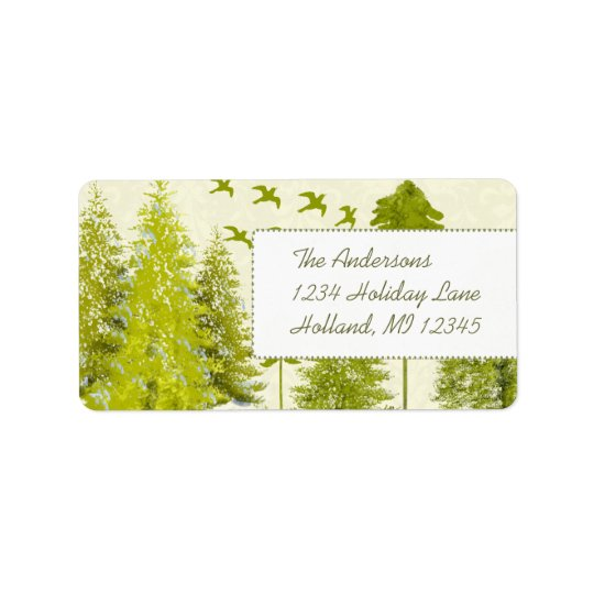 Moon Tree Stars Return Address Address Label