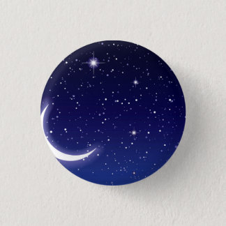 Moon & Twinkling Stars 3 Cm Round Badge