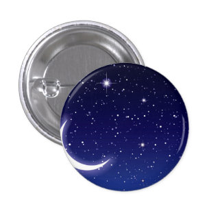 Moon & Twinkling Stars Pinback Buttons