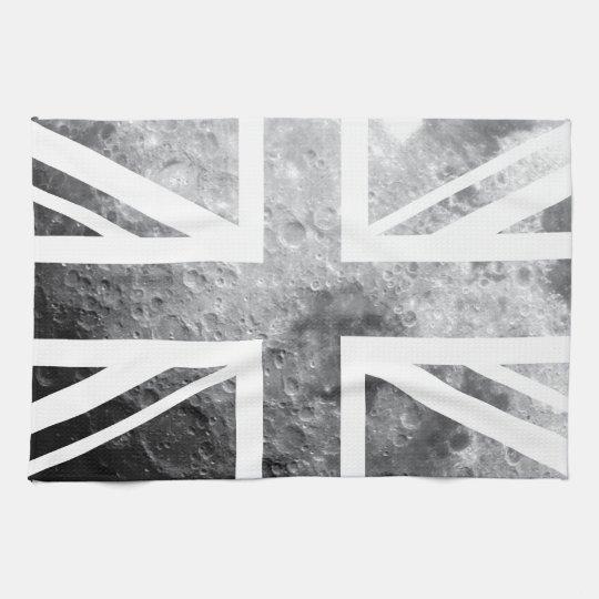 Moon Union Jack British(UK) Flag Tea Towel