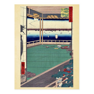 Moon viewing point by Andō, Hiroshige Ukiyo-e. Postcards