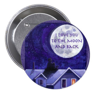 Moon Watch 7.5 Cm Round Badge