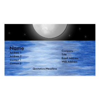 Moon Waters Pack Of Standard Business Cards