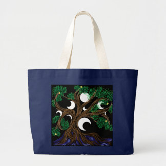 Moon Willow Large Tote Bag