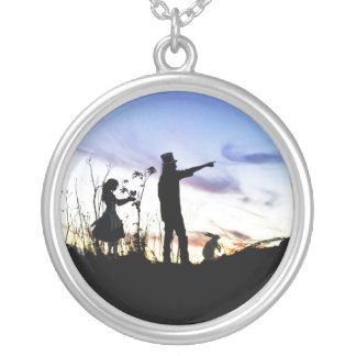 Moon Wonderland Silver Plated Necklace