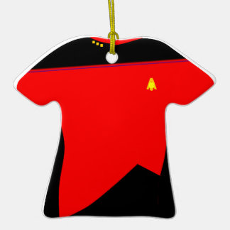 Moonbase Red Shirt Ornament