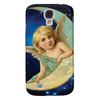 Moonbeam - Angel and Moon Collage Galaxy S4 Case