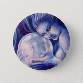 Moonborn - Mermaid and Baby 6 Cm Round Badge