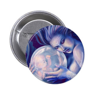 Moonborn - Mermaid and Baby 6 Cm Round Badge