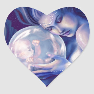 Moonborn - Mermaid and Baby Heart Sticker