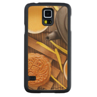 Mooncake and tea,Chinese mid autumn festival 2 Maple Galaxy S5 Slim Case