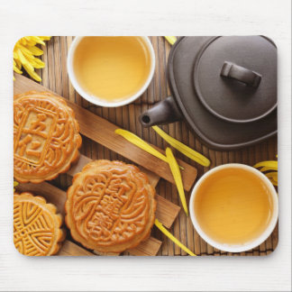Mooncake and tea,Chinese mid autumn festival 2 Mouse Mat