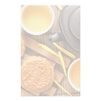 Mooncake and tea,Chinese mid autumn festival 2 Stationery