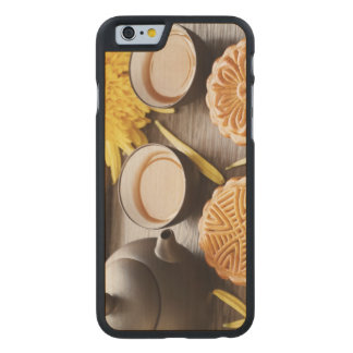 Mooncake and tea,Chinese mid autumn festival Carved® Maple iPhone 6 Slim Case