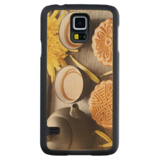 Mooncake and tea,Chinese mid autumn festival Maple Galaxy S5 Case