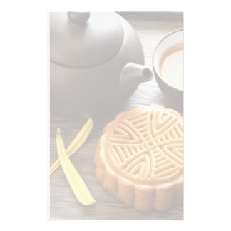 Mooncake and tea,Chinese mid autumn festival Stationery