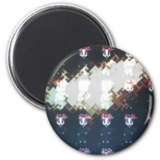 Moondial Gone Mad 6 Cm Round Magnet
