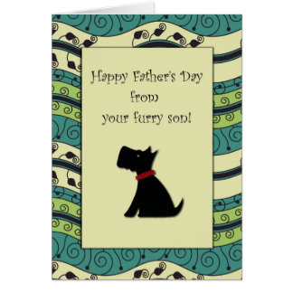 .::MoonDreams::. Happy Father's Day Black Dog Card