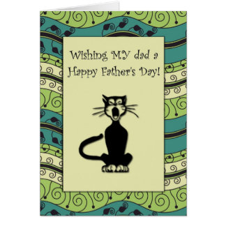 .::MoonDreams::. Happy Father's Day Cat Card