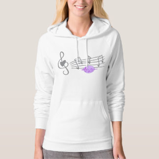 MoonDreams Music Notes & Hearts Pullover Hoodie