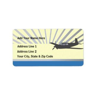 Mooney M20 Aviation Address Label