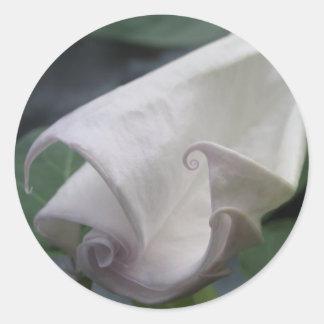 Moonflower Classic Round Sticker