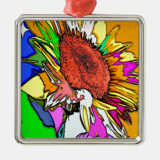 Moonflower Psychedelic Design Christmas Ornament