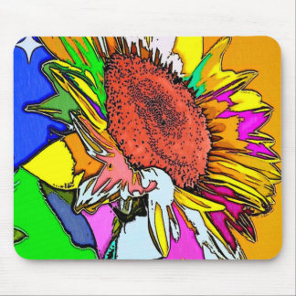 Moonflower Psychedelic Design Mouse Mat