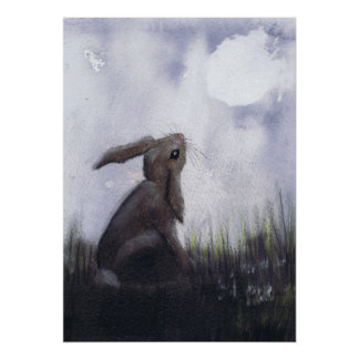 MOONGAZING HARE h3034 Poster