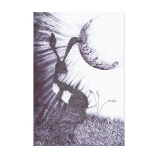 MOONGAZING HARE h3317 Canvas Print