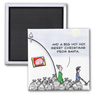 Mooning santa square magnet