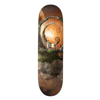 Moonland in the universe custom skateboard