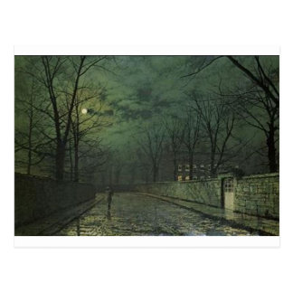 Moonlight After Rain by John Atkinson Grimshaw Postcard