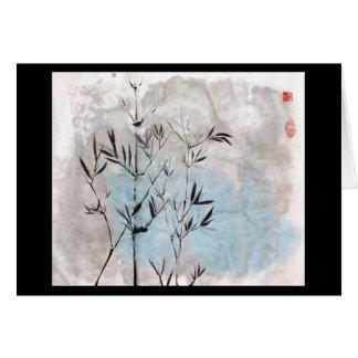 Moonlight Bamboo Blank Card