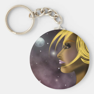Moonlight Basic Round Button Key Ring