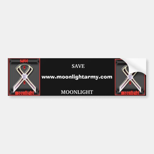 moonlight bumper sticker