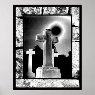 Moonlight Cross Poster