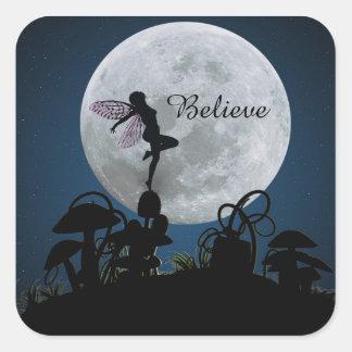 Moonlight dance believe fairy stickers