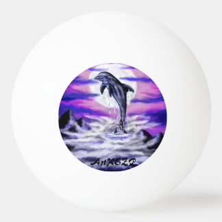 Moonlight Dolphin Ping Pong Ball