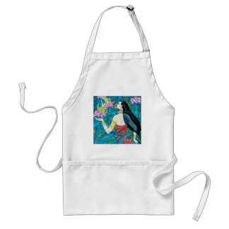 Moonlight Forest Hao Ping oriental abstract lady Standard Apron